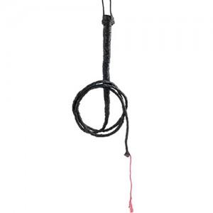 "BDSM Кожен бич с червен конец ""FETISH 6 FOOT"" 185 см."