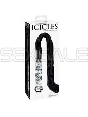 """Стъклено дилдо с камшик """"ICICLES GLАSS WHIP"""" 16 см / 67 см."""
