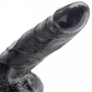 """Вибро пенис колан с помпа """"FETISH IVOS BLACK"""" 19 см."""
