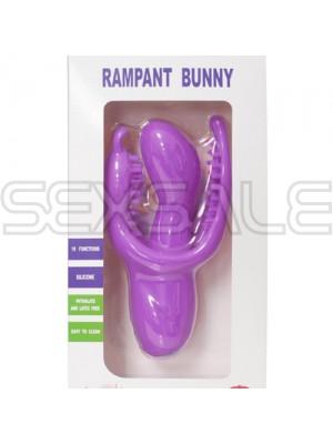 "мф Вибратор и стимулатор за G-точка ""RAMPANT BUNNY LAVENDER"" 16 см."