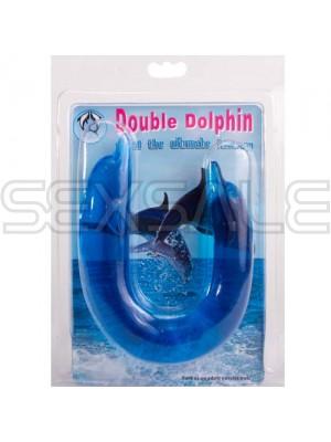 """Двойна силиконова отливка """"BLUE DOUBLE DOLPHIN"""" 30 см."""