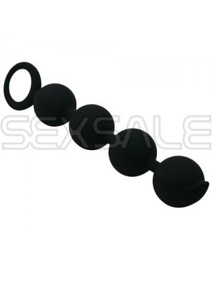 """Анални топчета от медицински силикон """"SFI BLACK"""" 15 см."""