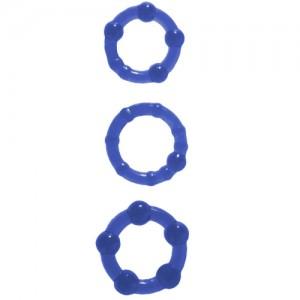 """Комплект пенис рингове """"BLUE POWER PLUS"""" 3 бр."""