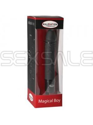 """Вибратор медицински силикон с помпа """"MAGICAL BOY"""" 19 см."""