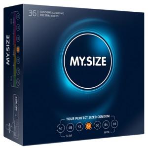 """Презервативи """"MY SIZE"""" 36 бр. 60 мм. за пениси 12 - 13 см."""