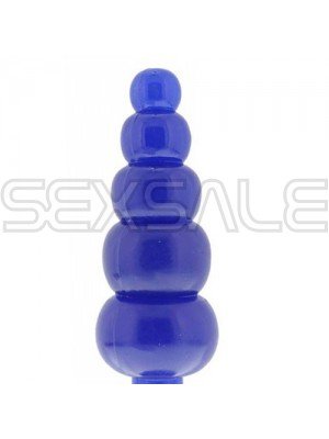 "Анално вагинално дилдо с топчета ""BENDABLE BLUE"" 20 см."