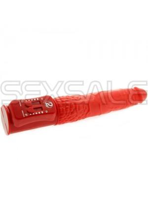 """Вибратор силикон със специфични движения """"RED PUSH"""" 19 см."""