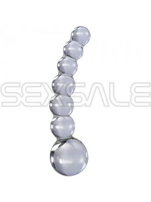 """Стъклено мини дилдо с топчета """"ICICLES № 66"""" 12 см."""