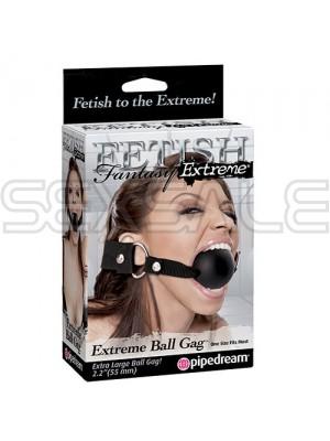 "Латексова топка за уста Голяма ""EXTREME BALL GAG"" 5.5 см."