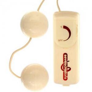 """Вибро анално-вагинални топчета """"OVB IVORY"""" 3.5 см."""