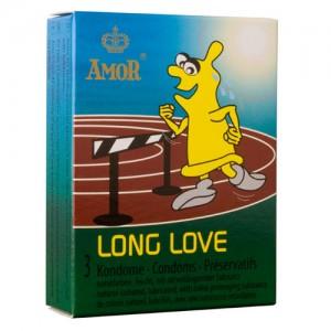 """Презервативи  """"AMOR LONG LOVE"""" 3 бр."""