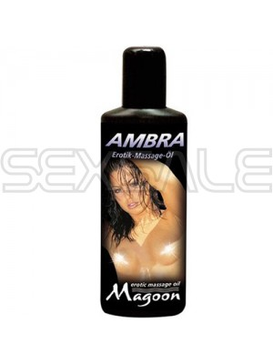 """Еротично масажно олио """"MAGOON"""" 100 ml. Амбра"""
