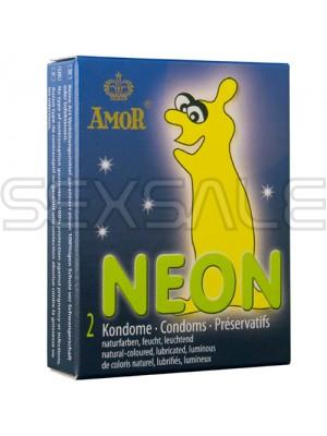"""Презервативи """"AMOR NEON"""" 2 бр."""