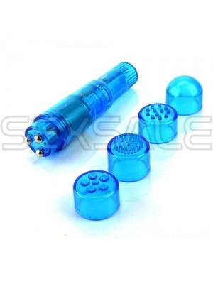 "Вибро стимулатор и масажор ""POCKET PLEASURE BLUE"" 10 см."