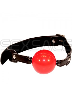 "Латексова топка за уста ""FETISH RED BALL"" 4.5 см."