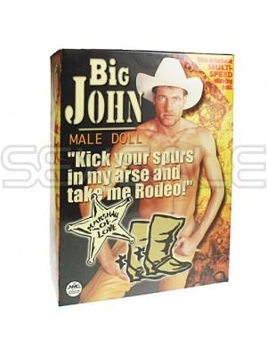 """Мъжка кукла с вибро пенис """"BIG JOHN"""""""