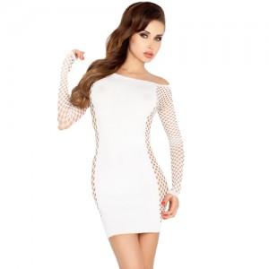 """Секси мрежеста рокличка """"PASSION BS025 WHITE"""""""