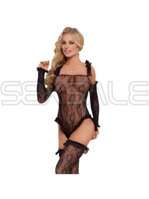 "Секси еротичен комплект ""SLC BURLESQUE BLACK"""