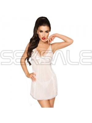 """Секси мини сатенена рокля """"PH CASUAL SEDUCTION WHITE"""""""
