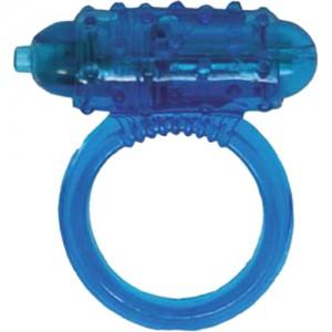 """Вибриращ пръстен със сменяеми батерии """"COCK RING BLUE"""""""