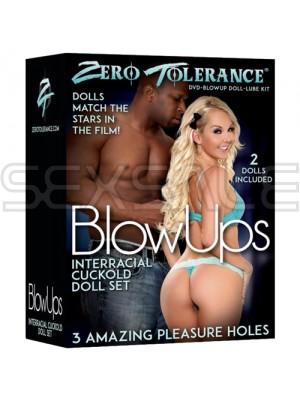 """Кукли мъж и жена """"BLOW UPS"""" Тройка с негър"""