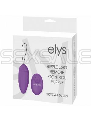 """Безжично вибро яйце """"ELYS PURPLE"""" 8 см. - 9 функции"""