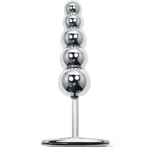 """Метално дилдо с топчета """"PLUNGER"""" 16 см."""
