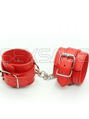 "Кожени белезници за ръце ""JOYS LEATHER CUFFS RED"""