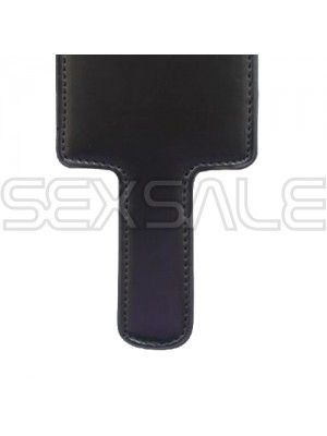 "BDSM Плескалка с кожена облицовка ""SQUARE BLACK PADDLE"" 21 см."