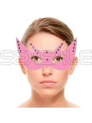 "Кожена маска за лице ""CARNAVAL PINK"""