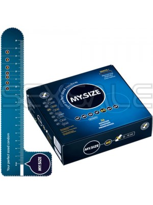"""Презервативи """"MY SIZE"""" 3 бр. 60 мм. за пениси 12 - 13 см."""