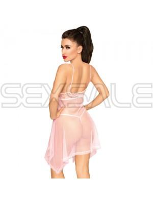 "Секси мини сатенена рокля ""PH NAUGHTY DOLL PINK"""