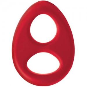 """Двоен пенис ринг """"ROMEO RED RING"""" - Медицински силикон"""