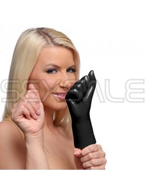 "Вибратор за фистинг с формата на юмрук ""MASTER BLACK FIST"" 16 см."